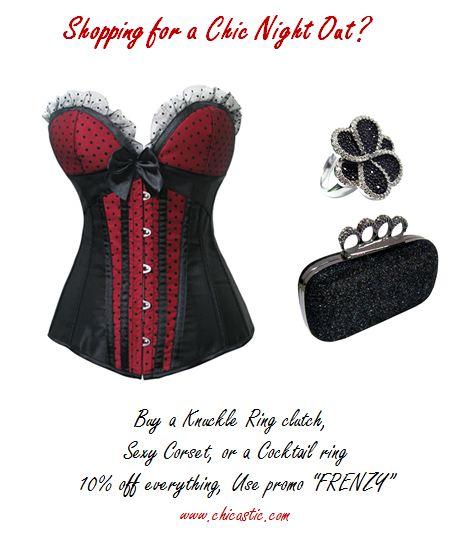 ring clutch, corset