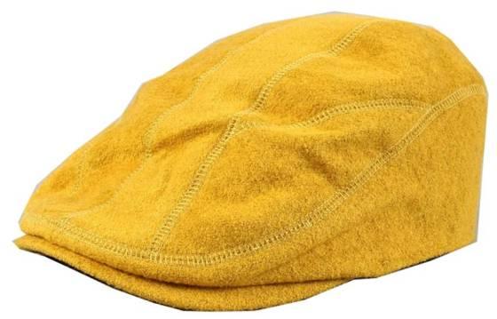 Yellow Wool Blend Newsboy Cap Flat Driving Hat - Women's