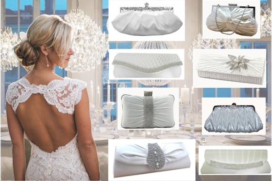 Winter Bride Clutch Purse