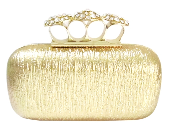 Gold Knuckle Duster Clutch