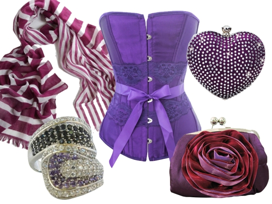 Royal Purple accessories at Chicastic!