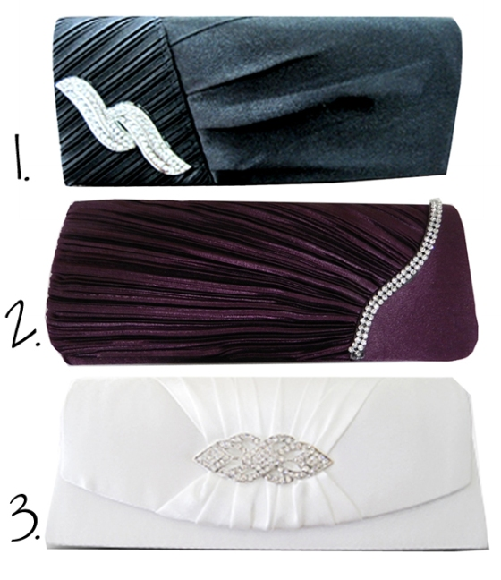 Rhinestone Studded Satin Cocktail and Evening Clutch Purses, SELECT STYLES ON SALE $19.99
