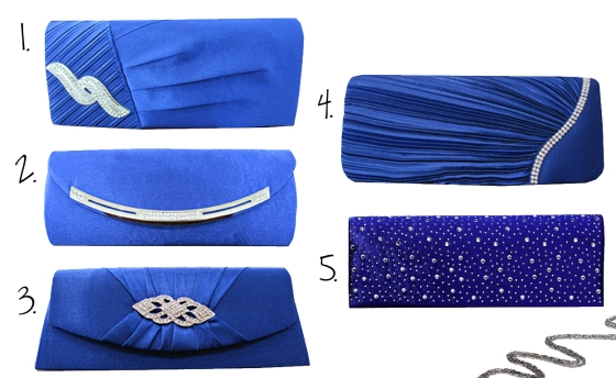 Wedding and Bridal Clutch Purses in BLUE