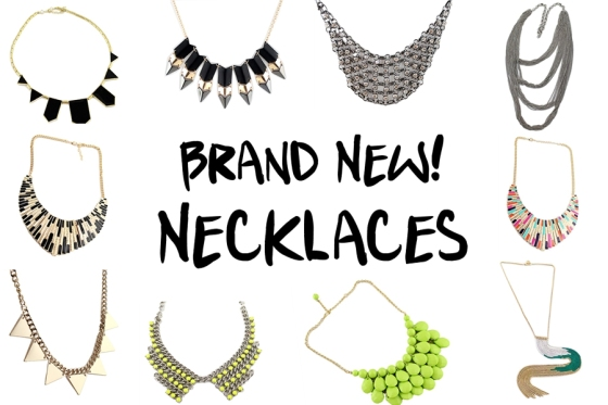 Be the first to check out our new necklaces before we run out!