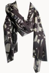 Brown 100% Wool Printed Pashmina Scarf Shawl Wrap With Fringes