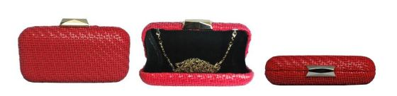 Red Basket Weave Clutch