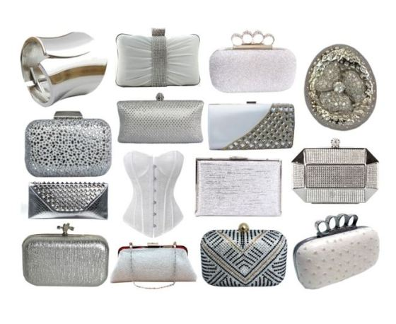White Bridal Clutch Purses