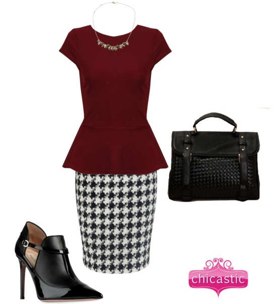 Update your office wear with jewelry and handbags by Chicastic