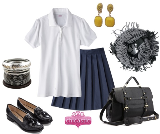 Accessorize A School Uniform with accessories from Chicastic.com