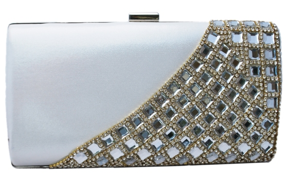White Wedding Bridal Clutch Purse