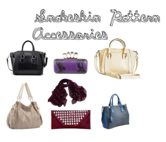 Snakeskin Pattern Fashion Accessories