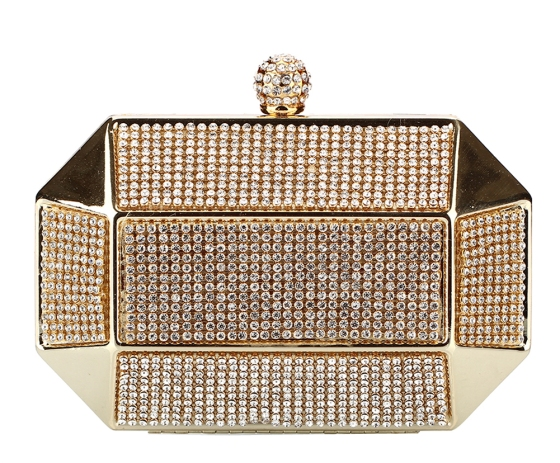 Gold Octagon Clutch Purse