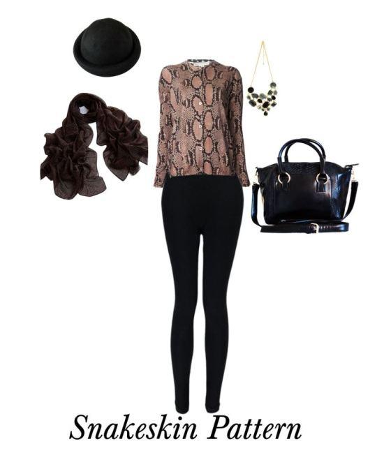 Snakeskin Pattern Fashion Accessories