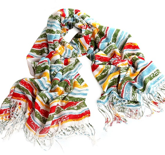 Multi Color Acrylic Wool Pashmina Scarf