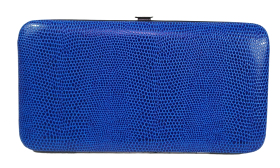 Blue Snakeskin Pattern Hard Wallet