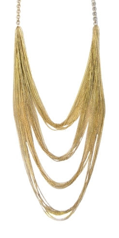 Waterfall Necklace Gold
