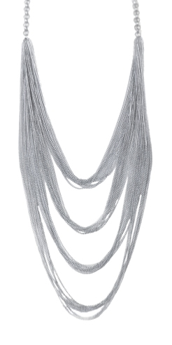 Waterfall Necklace Silver