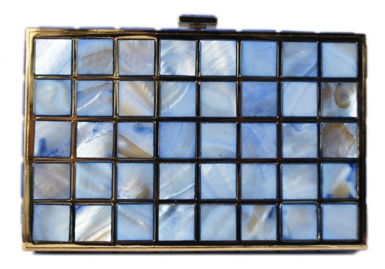 Blue Mother Of Pearl Clutch Purse