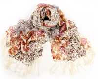 Multi Color Mixed Animal & Floral Print 100% Wool Pashmina Scarf Shawl