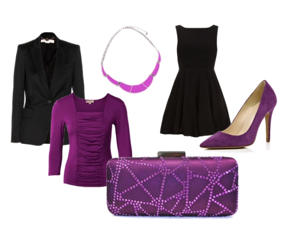 Purple Rhinestone Clutch