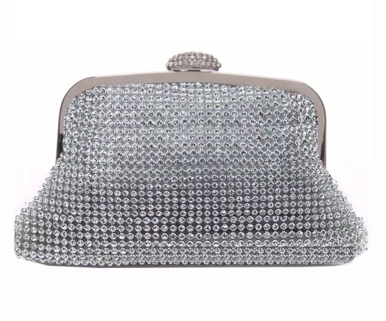 Silver Mesh Clutch Bag