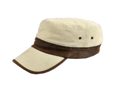 Off White Canvas Two Toned Fisherman Cap