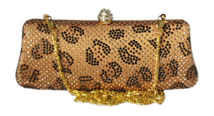 Brown Leopard Print Clutch