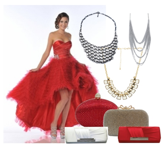 red dress accessories | chicastic