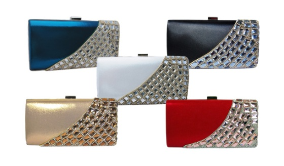 Crystal Rhinestone Clutch Purse