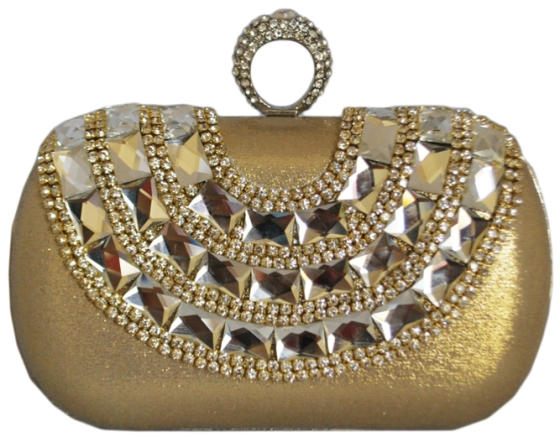Gold One Ring Knuckle Duster Clutch Bag