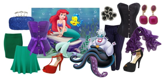 Ariel and Ursula Outfits