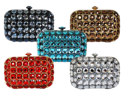 Crystal Hard Box Mini Cocktail Clutch