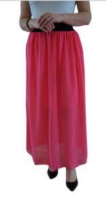 chiffon skirt pink
