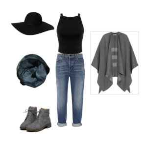 During the day you want to look put together. Adding a cute hat makes the look chic while a cardigan keeps you warm.