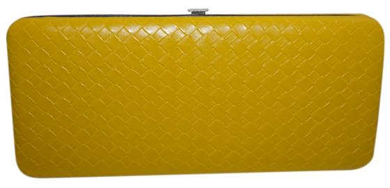Weave Pattern Clutch Wallet