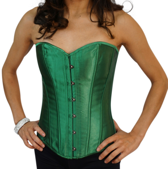 Emerald Green Satin Sexy Bustier
