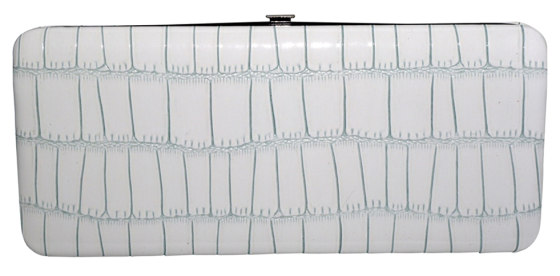 Long Snake Skin Print Clutch Wallet