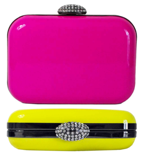 Neon Hard Case Prom Clutch (3)