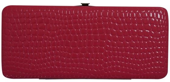 Glossy Croc Snakeskin Pattern Hard Clutch Wallet