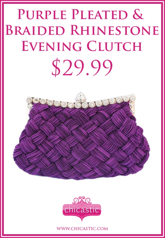 purple-pleated-and-braided-rhinestone-evening-clutch-title