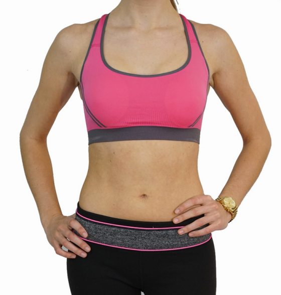 Crossback Medium Support Wireless Sports Bra