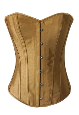 beige gold corset