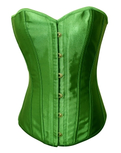 fbfca4eb2 Emerald Green Satin Lace Up Sexy Strong Boned Corset